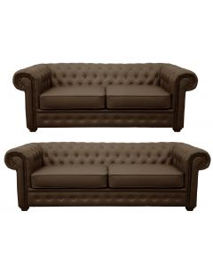 Venus Sofa 3 Seater 2 Seater Armchair Brown Faux Leather