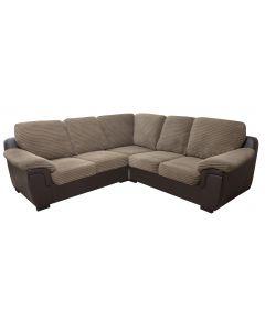 AMY Fabric Corner Sofa Brown Jumbo Cord