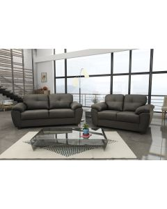 Carlos 3+2 Seater Sofa Set Black or Brown Faux Leather