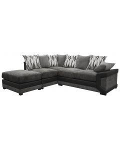 Louisiana Large Fabric Corner Black/Grey LEFT