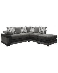Louisiana Large Fabric Corner Black/Grey Right