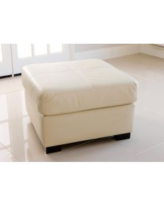 FOOTSTOOL in Faux Leather
