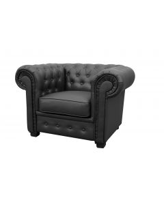 Chesterfield Style Armchair Faux Leather