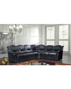 ENZO Faux Leather Corner Sofa Bed with Storage