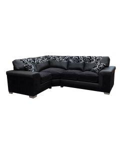 Symphony Corner Sofa Left Black