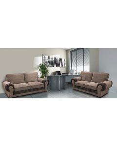 Tango Fabric Sofa Set 3+2 Brown