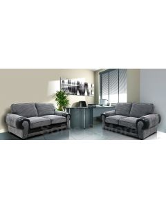 Tango Fabric Sofa Set 3+2 Black/Grey