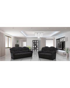 TEXAS Fabric Sofa Set-2+3 set-Black & Black