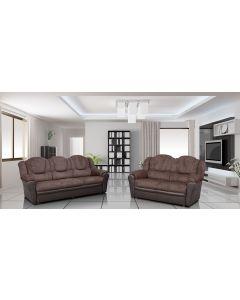 TEXAS Fabric Sofa Set-2+3 set-Brown & Brown