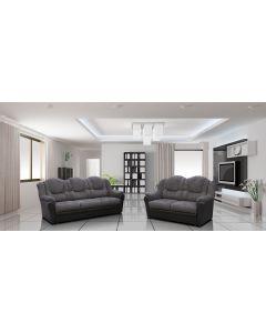 TEXAS Fabric Sofa Set-2+3 set-Grey & Black