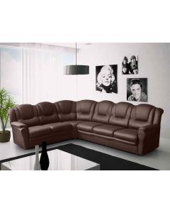 Texas Corner Sofa Brown Faux Leather