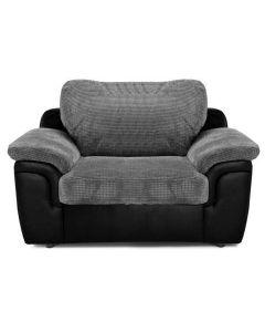 AMY Armchair Black Grey Jumbo Cord Fabric