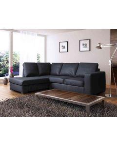 WESTPOINT Faux Leather Corner Sofa Black Left