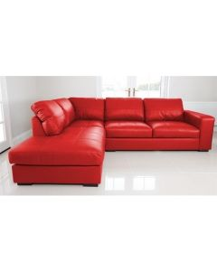 WESTPOINT Faux Leather Corner Sofa RedLeft